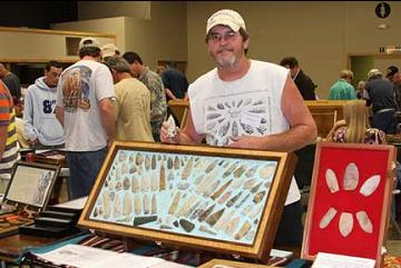 Brad at the 2009 Springfield Artifact Show